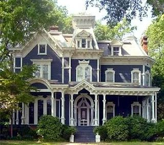I have a fascination with victorian houses.  Love them....I would love to have one down in the Bayou.