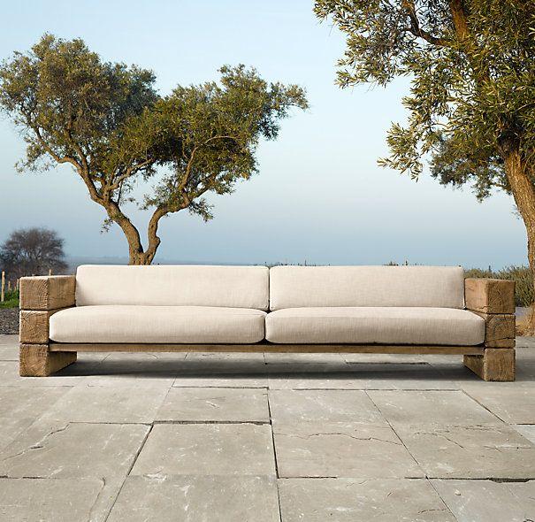 Restoration Hardware outdoor sofa