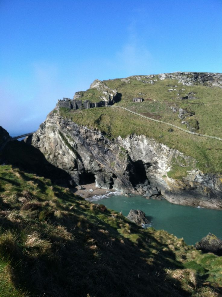 Merlin's Cave in Tintagel, Cornwall
