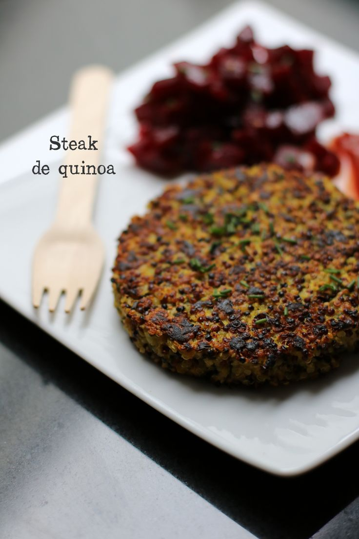 Steak de quinoa