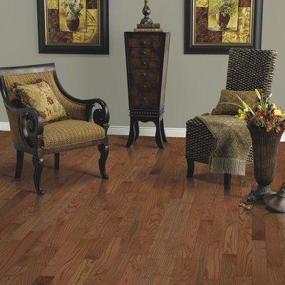 """Mohawk Randhurst SWF 3-1/4"""" Solid Oak Hardwood Flooring in Gunstock"""