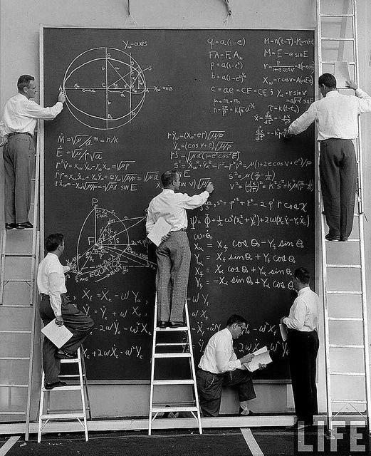 "maninthebottle: ""NASA before Powerpoint, 1960s © JR Eyerman (Source: fuckyeahvintage-retro) """