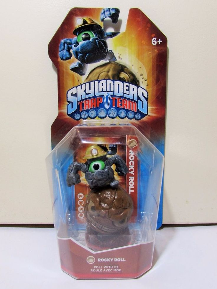 Skylanders Trap Team Rocky Roll Figure BNIB