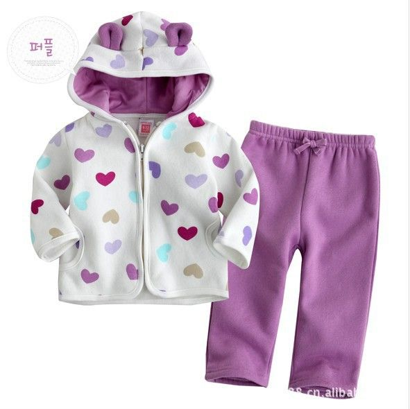 infant girl outerwear white-purple