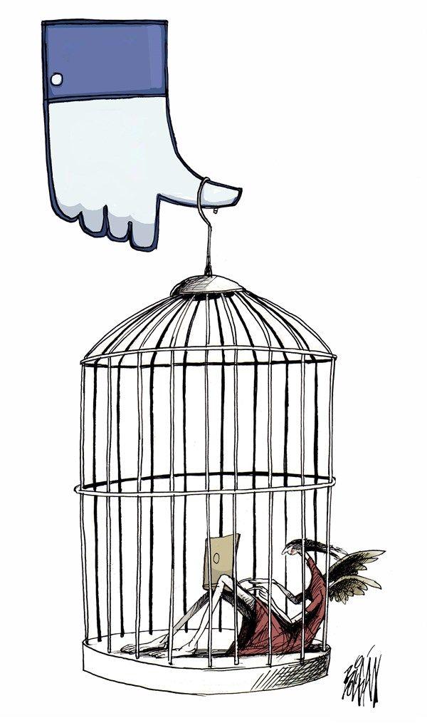 Like Prisoners of Facebook | Jun/23/14 by Angel Boligan