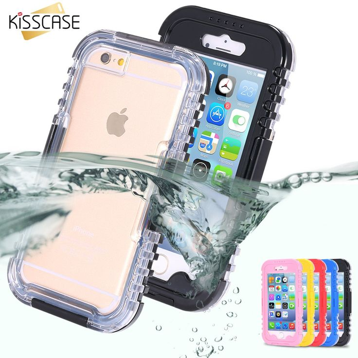 KISSCASE IP-68 Waterproof Heavy Duty Hybrid Swimming Dive Case For Apple iPhone 6 6S Plus 5S SE Water/Dirt/Shock Proof Phone Bag www.peoplebazar.net    #peoplebazar