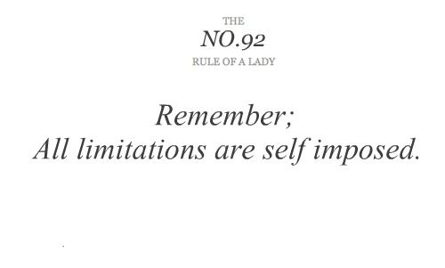 rules of a lady | Journey of the Featherless: Rules of a lady #92