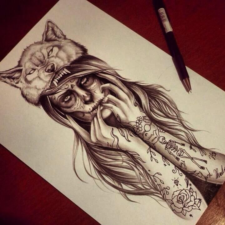 Tattoos Wolf Tattoos Headdress Tattoo: DiCreemDiseñoLatino® On