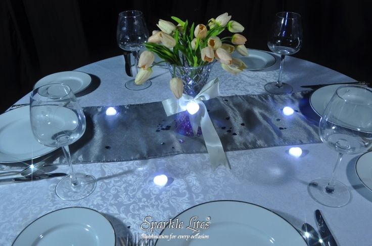 Sparkle Hearts make beautiful table scatters on this wedding setting.