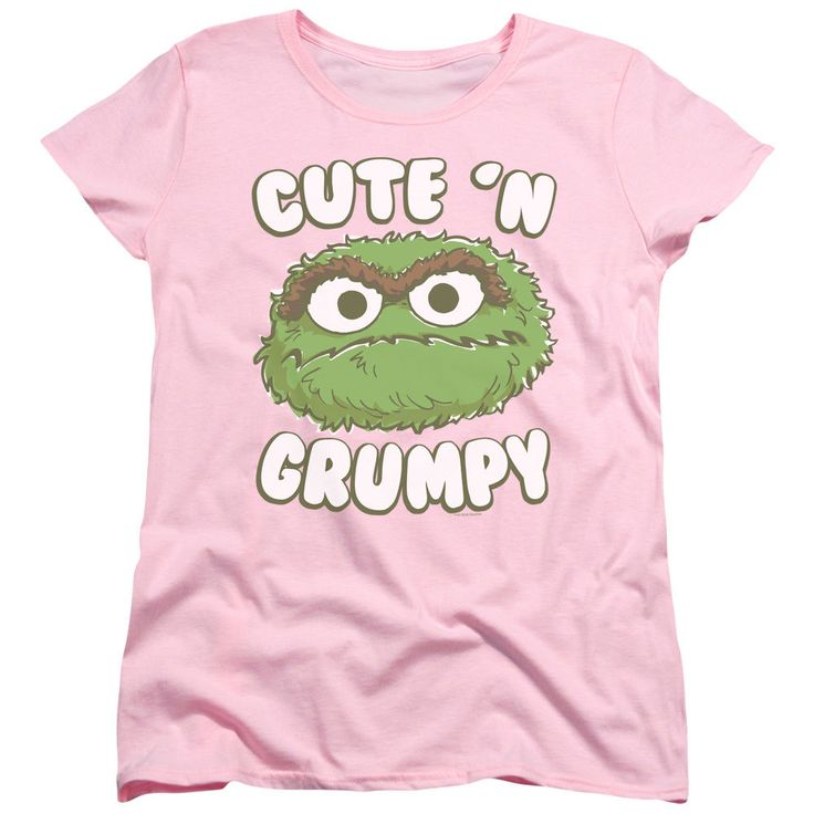 SESAME STREET CUTE N GRUMPY OSCAR THE GROUCH Women's Graphic Tee Shirt SM-2XL | Clothing, Shoes & Accessories, Women's Clothing, T-Shirts | eBay!