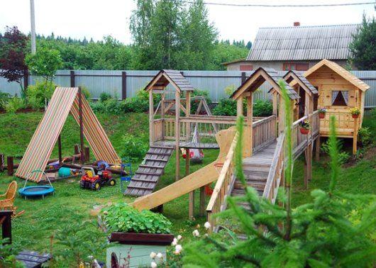 Детские игровые и спортивные комплексы для дачи - организация детского городка