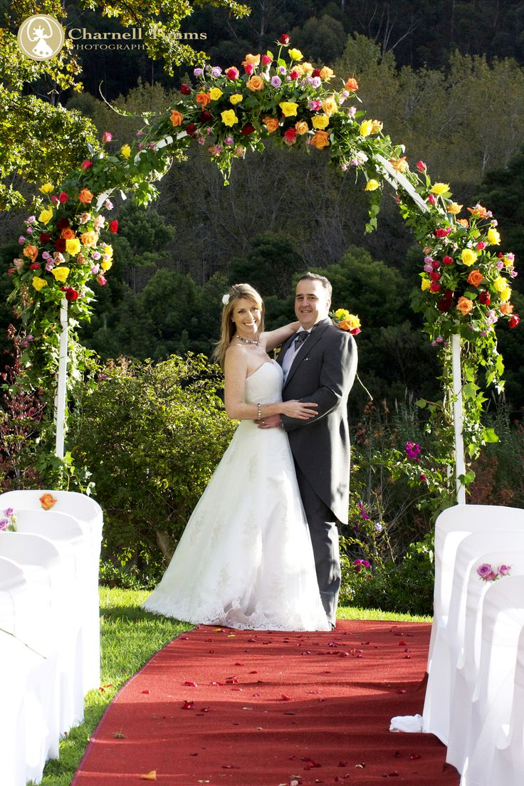 The perfect rose arch at Grand Dedale in Wellington. Charnell Timms Photography