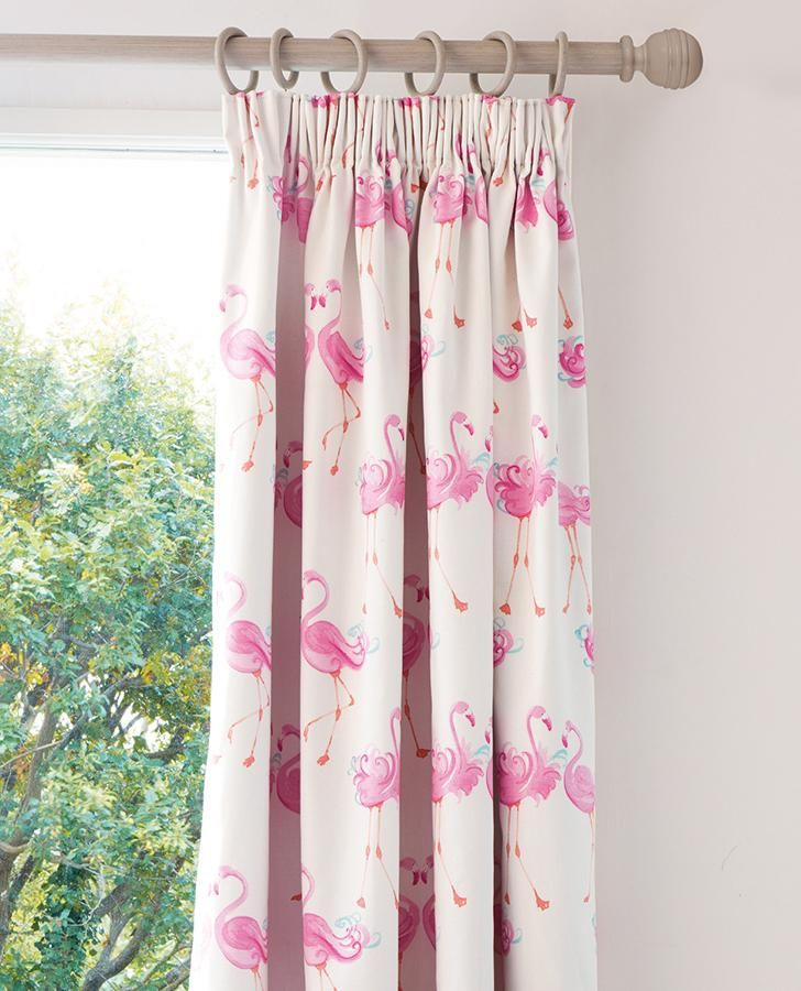 Pretty Flamingo Ready Made Blackout Curtains Flamingo Room Decor Kids Curtains Cool Curtains