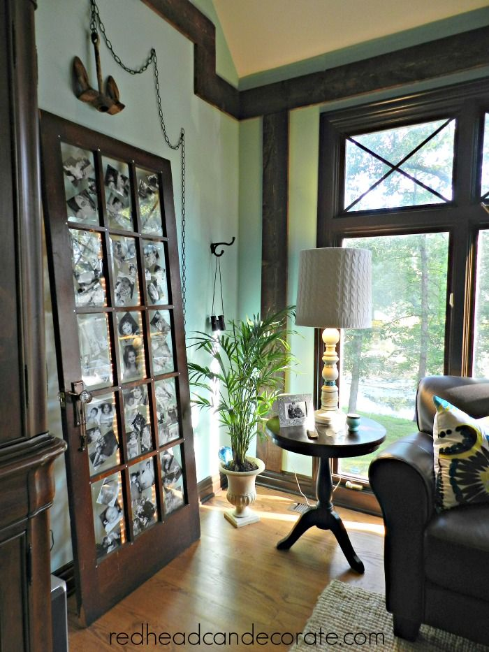 "Our ""Home Tour""...including the photo door. redheadcandecorate.com"