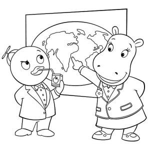 The Backyardigans Tasha Show Pablo World Map In Coloring Page