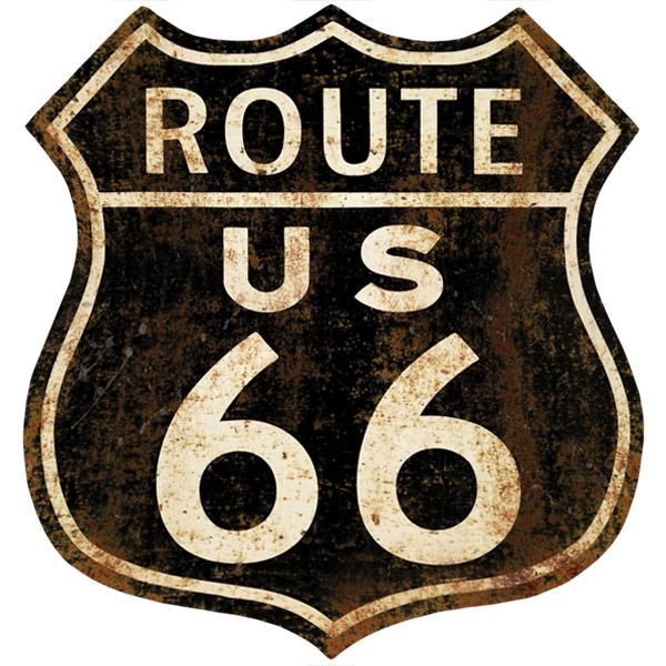 Route 66 Distressed Wall Decal
