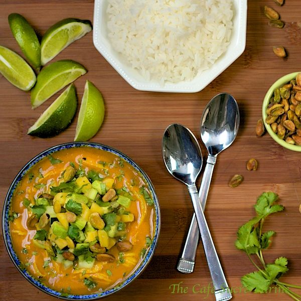 The Café Sucré Farine: Roasted Red Pepper & Chicken Coconut Curry w/ Avocado-Mango Relish ........... AND a GIVEAWAY!