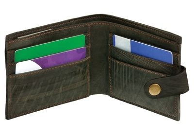 Traidcraft recycled tyre wallet - more eco charity Christmas gifts for at http://www.charitychoice.co.uk/blog/charity-christmas-gifts-for-eco-warriors/113 @Traidcraft