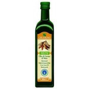 Ulei bio de germeni de porumb 0.5L Prin compoziția sa in acizi grași nesaturați, uleiul din germeni de porumb e un ulei dietetic, asimilat de organism în proporție de 99%, fiind de 2 ori mai bogat în vitaminele A,D și E decât alte uleiuri.