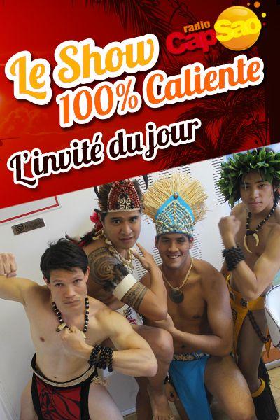 HIVA danses polynésiennes ! Ils ont mis l'ambiance dans les studios Radio CapSao !! Version boys !