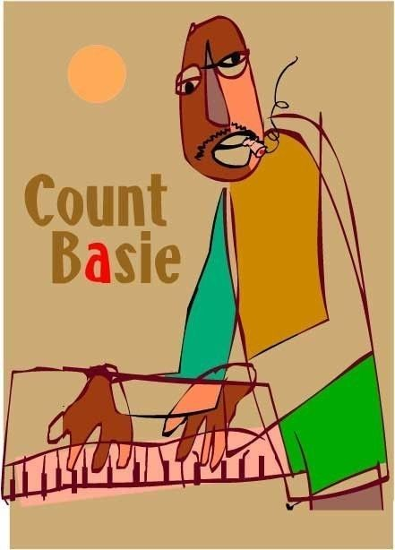 Count Basie Jazz Piano Art, Learn how to freestyle rap here: http://tofreestyle.com/  #jazz #freestylerap #hipop