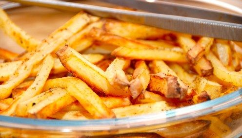 Fritter med pommes frites krydderi