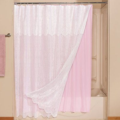 17 best ideas about lace shower curtains on pinterest bathroom shower curtains rustic. Black Bedroom Furniture Sets. Home Design Ideas