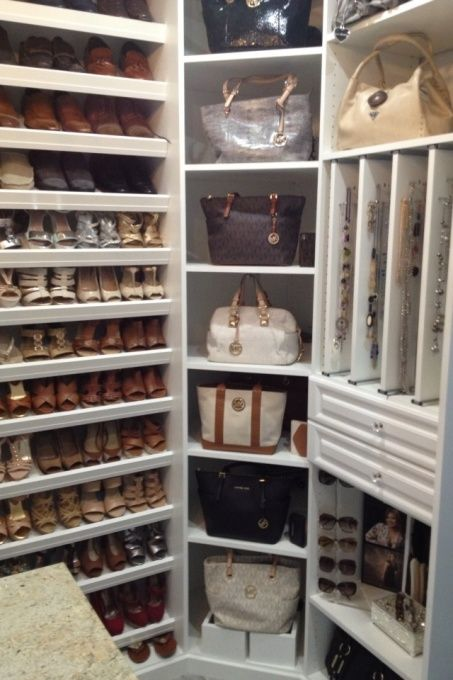 walk in closet-master bathroom , my guest bedroom turn into a walk in closet. Cust...: