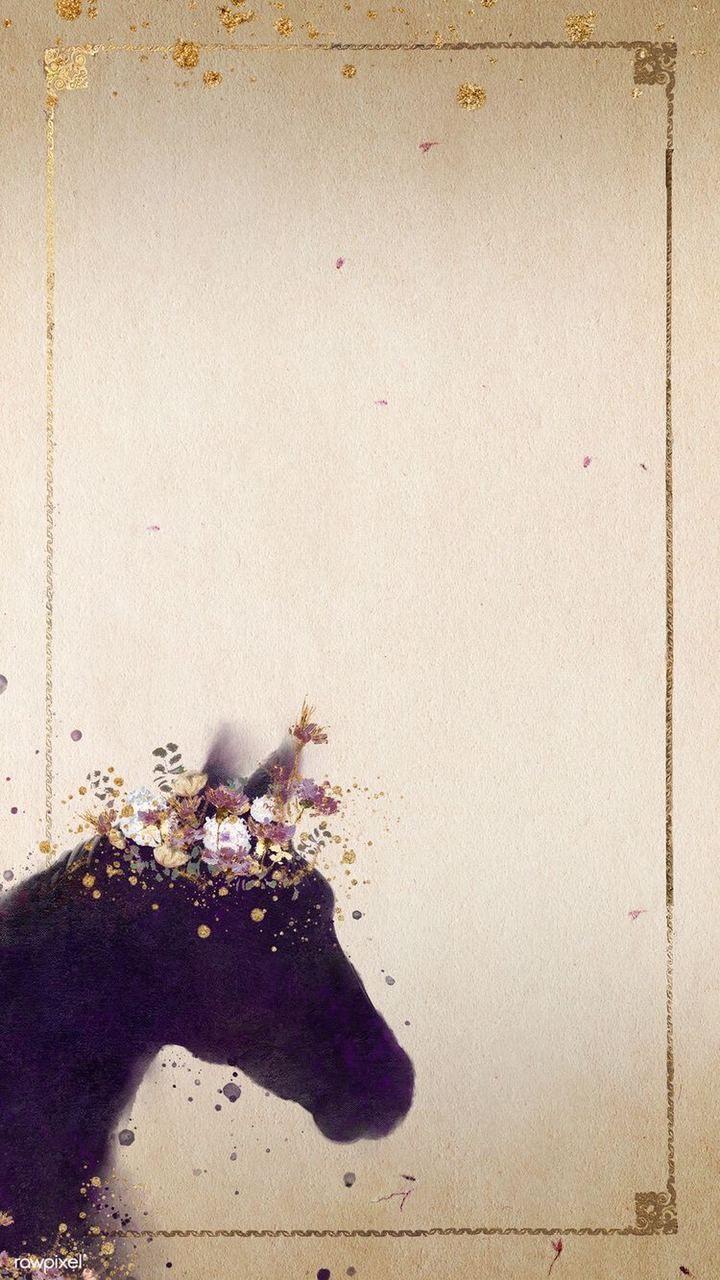 Pin By Wendy Daniela On Cartoon Wallpaper Silhouette Painting Horse Wallpaper Flower Background Wallpaper