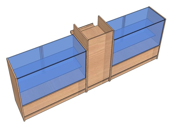 Vitrinas mostrador con mueble caja - Vitrinas de diseno ...