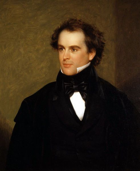 Portrait of Nathaniel Hawthorne by Charles Osgood, 1841 - Nathaniel Hawthorne (1804 – 1864) was an American novelist and short story writer. His neighbor, Ralph Waldo Emerson, invited him into his social circle, but Hawthorne was almost pathologically shy and stayed silent when at gatherings.