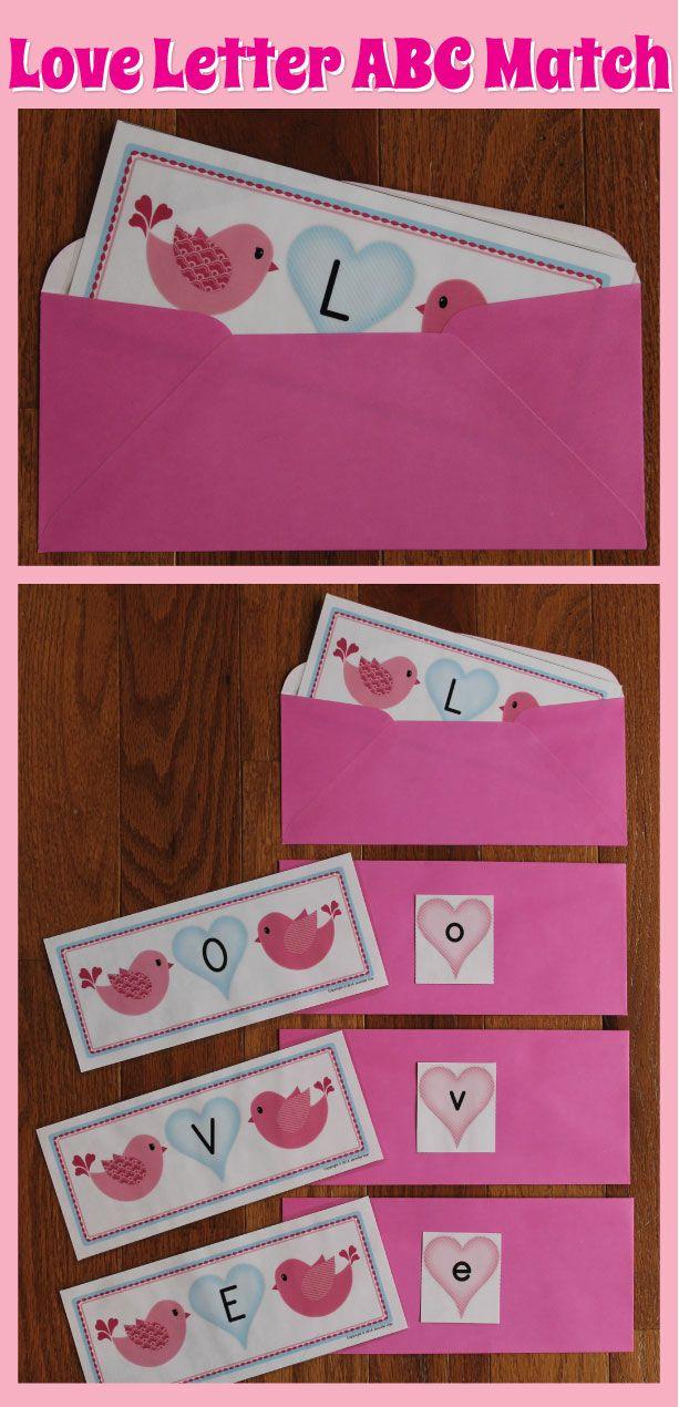 Love Letter ABC Match.....Valentine alphabet match for preschool and pre-k