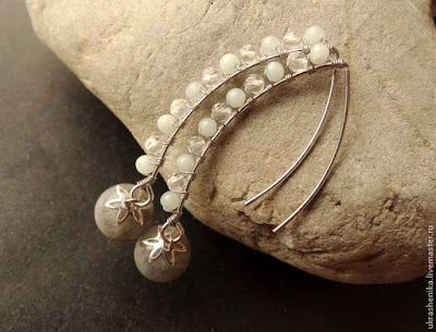 Tired of the same old style of ear wires? Then you have to try elvish ear wires. They are easy to make and customize. Check out this tutorial by Russian designer, Veronika Rakintseva. She added dang