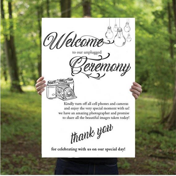 Best Unplugged Wedding Sign Ideas On Pinterest Unplugged