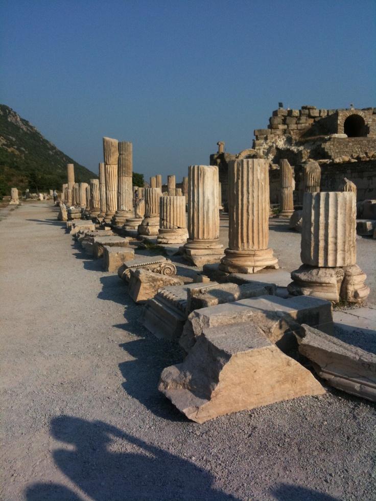 Ancient Ephesus! Kusadasi, Turkey