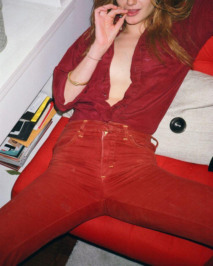 rebekahcampbellphoto:  Loren in red on red, November 2015 (Rebekah Campbell)