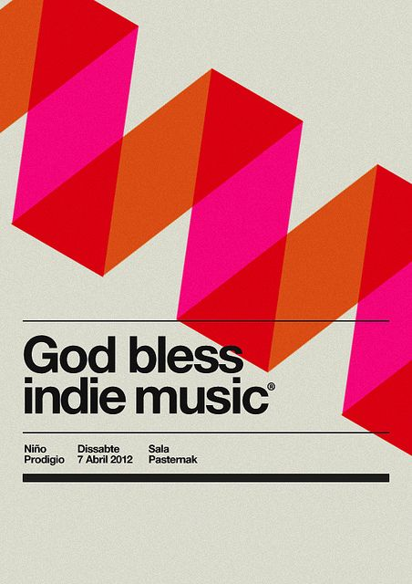 Holy week music poster by MARIN DSGN, via Flickr