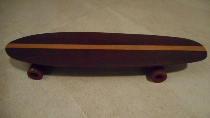 Homemade wooden skateboard