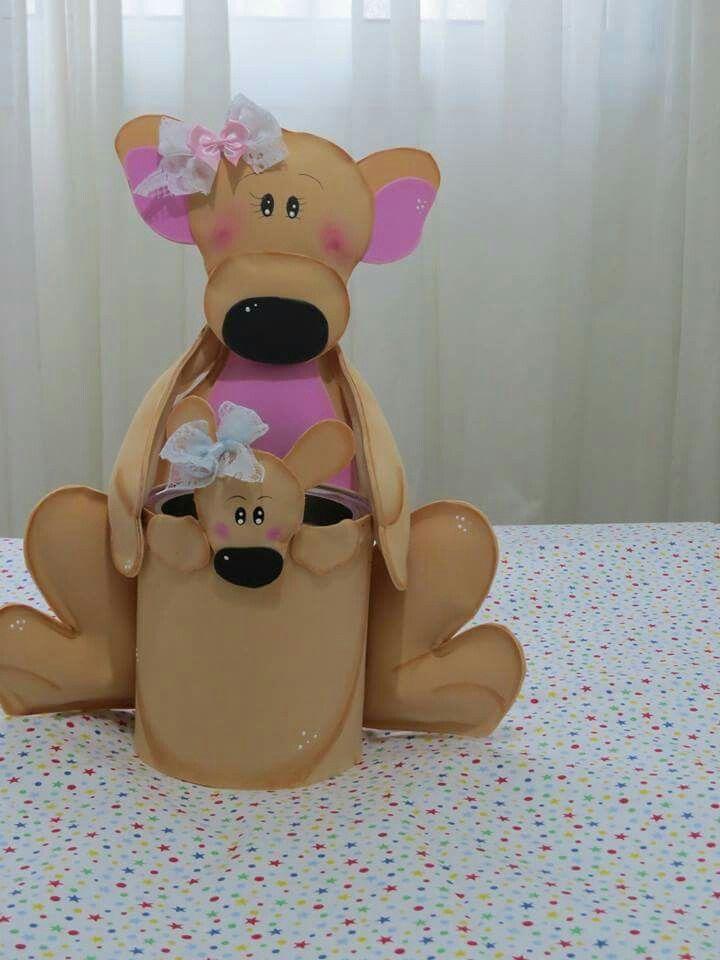 Reciclaje canguro decoraciones manualidades para regalar for Reciclaje manualidades decoracion