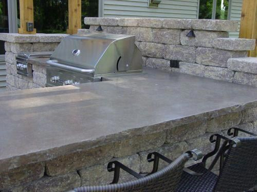 Outdoor Kitchen Countertop Material Outdoorkitchencountertopsgranite Outdoorkitchencou Outdoor Kitchen Countertops Kitchen Countertops Concrete Countertops