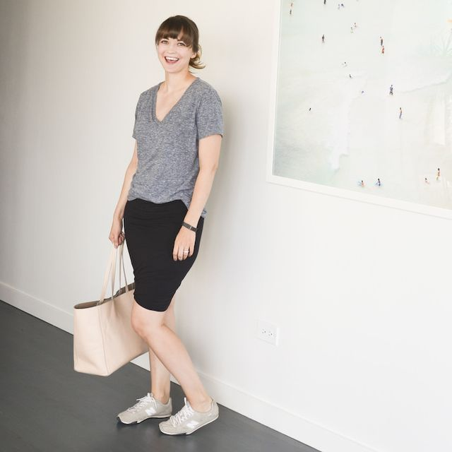 dotty, skirts, and sneakers