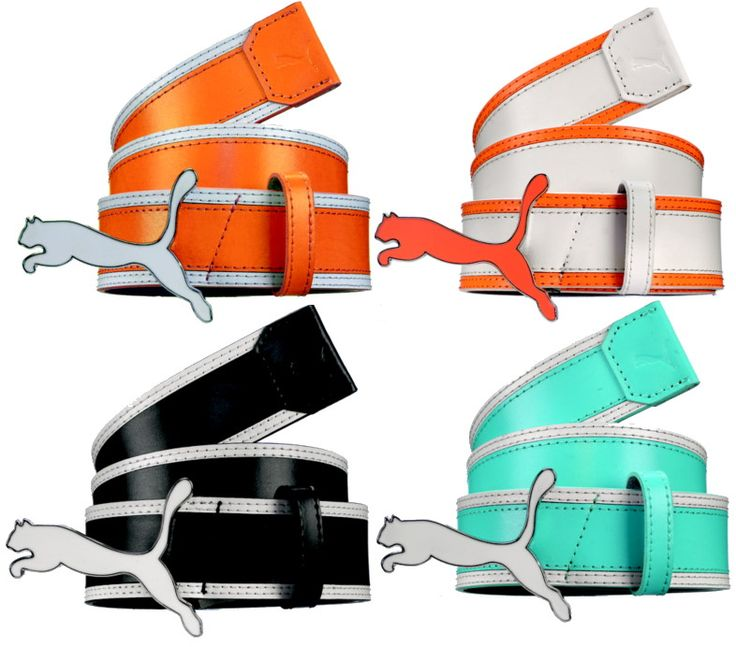 Puma | Golf Belts | Jumpcat Monoline Fitted black white orange turquoise blue