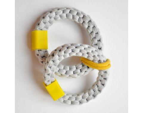 Bransoletki MAMAIJA szare/żółte