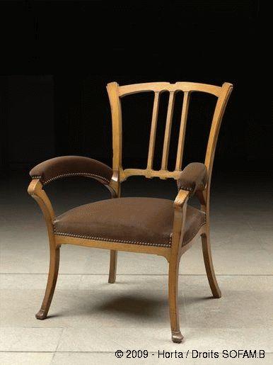 ❤ -Victor Horta (1861-1947) - Arm Chair. Circa 1902-1904. Musée d'Orsay, Paris, France.