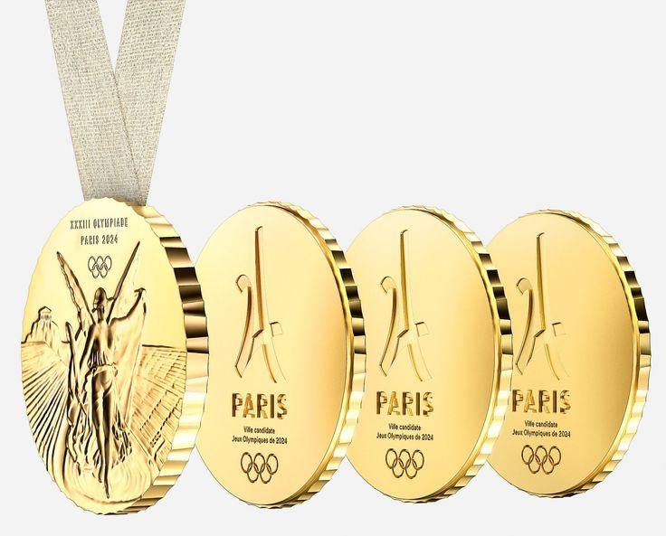 медаль XXXIII Летние Олимпийские игры 2024 Франция диз Philippe Starck!Филипп Старк 2017