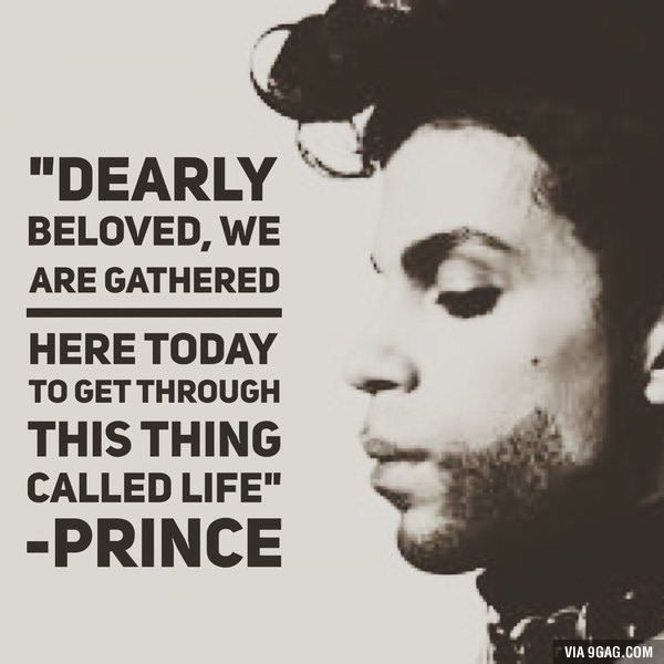 Another icon gone too soon... a musical genius. RIP Prince