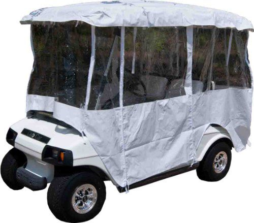 Golf Carts Ideas   White Golf Cart Enclosure Vinyl Cover  4 Passenger Carts with 80 Top *** You can find out more details at the link of the image. Note:It is Affiliate Link to Amazon.