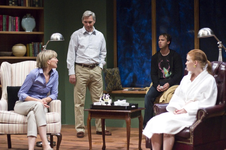 Corinna May, David Adkins, Ross Cowan, Lesley Shires in Berkshire Theatre Group's production of Homestead Crossing by William Donnelly at The Unicorn Theatre in Stockbridge, MA 8/7-9/1. www.berkshiretheatregroup.org. Photo by Christy Wright #WorldPremiere
