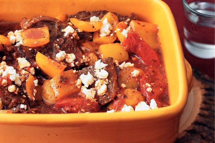 Kijk wat een lekker recept ik heb gevonden op Allerhande! Grieks rundvlees uit de oven