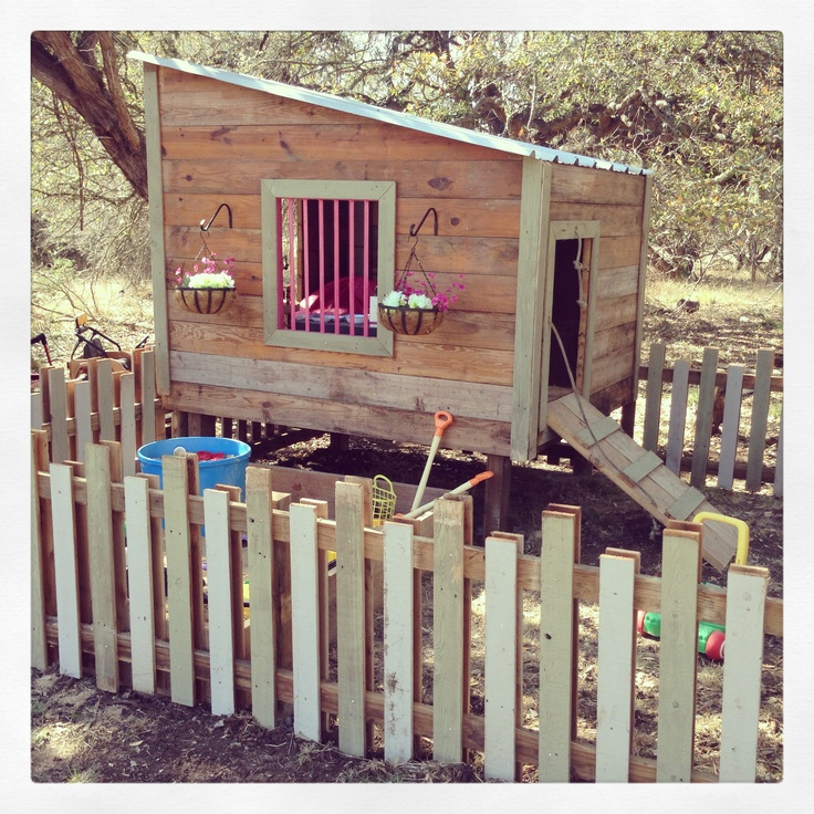 Little girls playhouse and yard! All reclaimed material from a torn down horse barn and privacy fence. Built by my husband!